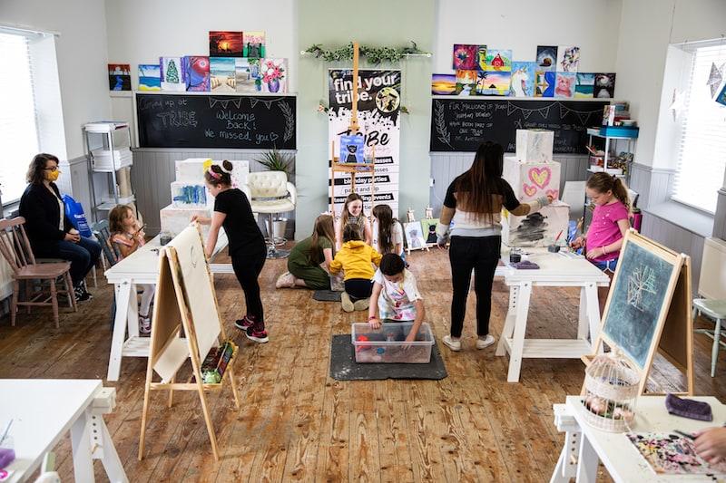 Childrens Art Classes Kildare - Art Parties - Tribe Art Studio