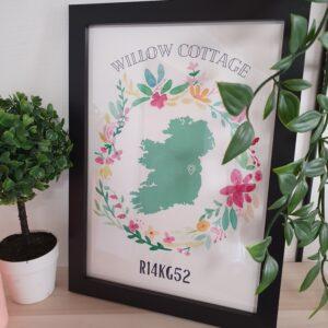 Irish eircode print