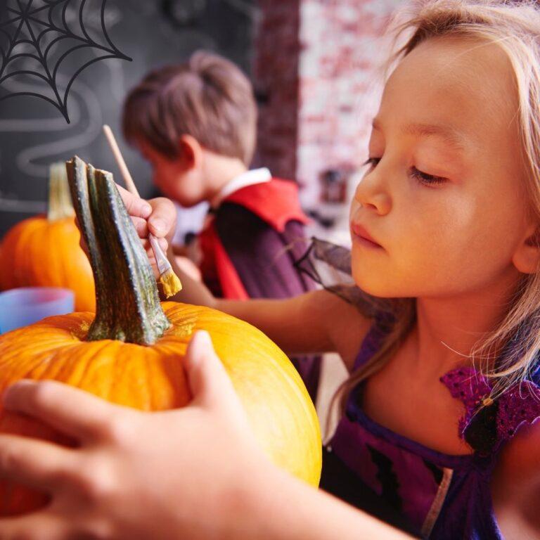 Kids pumpkin painting workshop